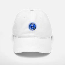 Atheist Logo (blue) Baseball Baseball Cap