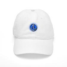 Atheist Logo (blue) Baseball Cap