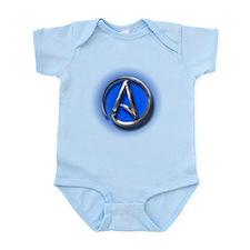 Atheist Logo (blue) Onesie