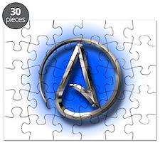 Atheist Logo (blue) Puzzle