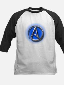 Atheist Logo (blue) Kids Baseball Jersey