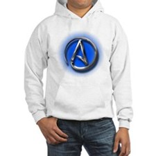 Atheist Logo (blue) Hoodie