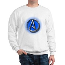 Atheist Logo (blue) Sweatshirt