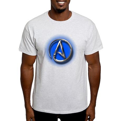 Atheist Logo (blue) Light T-Shirt