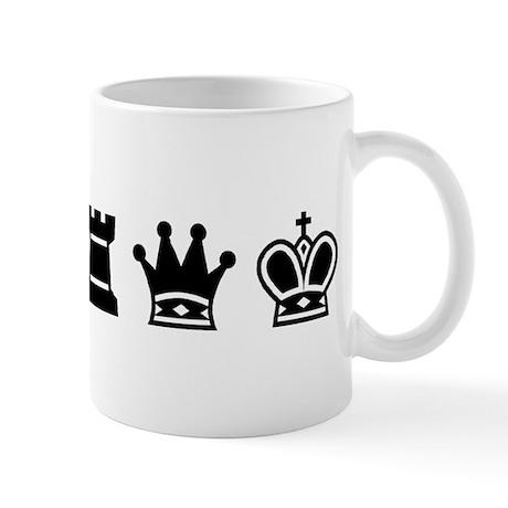 Mug - Chess symbols BLACK