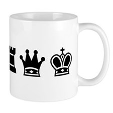 Mug - Chess symbols BLACK
