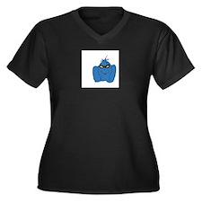 Wickersham Women's Plus Size V-Neck Dark T-Shirt