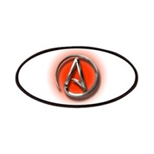 Atheist Logo (red) Patches