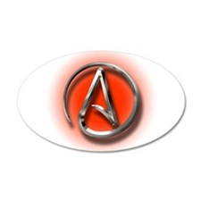 Atheist Logo (red) Wall Decal