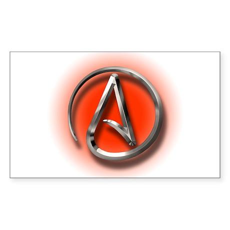 Atheist Logo (red) Sticker (Rectangle 50 pk)