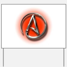 Atheist Logo (red) Yard Sign