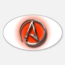 Atheist Logo (red) Decal