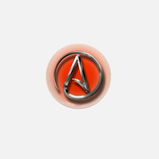 Atheist Logo (red) Mini Button