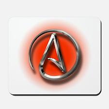 Atheist Logo (red) Mousepad