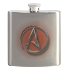 Atheist Logo (red) Flask