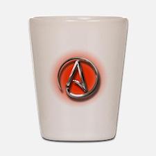 Atheist Logo (red) Shot Glass