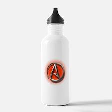 Atheist Logo (red) Sports Water Bottle