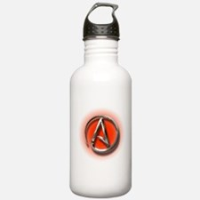Atheist Logo (red) Water Bottle