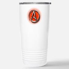 Atheist Logo (red) Travel Mug