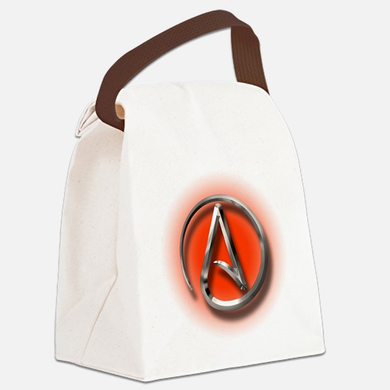 Atheist Logo (red) Canvas Lunch Bag