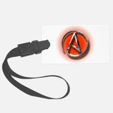 Atheist Logo (red) Luggage Tag
