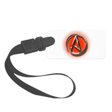Atheist Logo (red) Luggage Tag