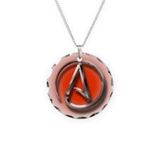 Atheist Logo (red) Necklace