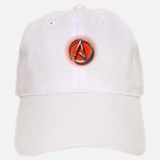 Atheist Logo (red) Baseball Baseball Cap