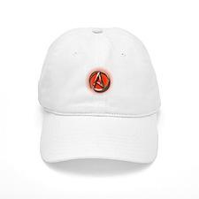 Atheist Logo (red) Baseball Cap