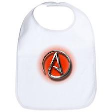 Atheist Logo (red) Bib