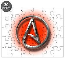 Atheist Logo (red) Puzzle