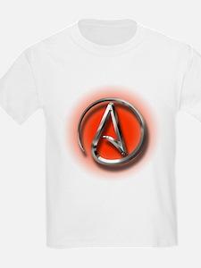 Atheist Logo (red) T-Shirt