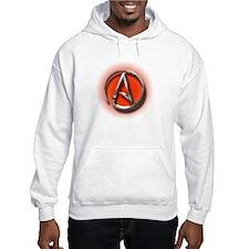 Atheist Logo (red) Hoodie