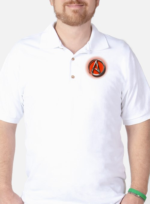 Atheist Logo (red) Golf Shirt