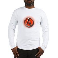 Atheist Logo (red) Long Sleeve T-Shirt