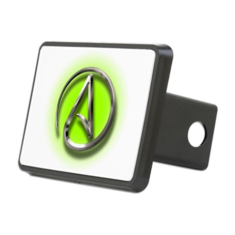 Atheist Logo (green) Rectangular Hitch Cover