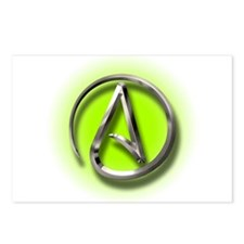 Atheist Logo (green) Postcards (Package of 8)