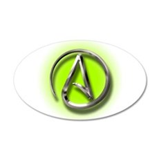 Atheist Logo (green) Wall Decal