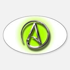 Atheist Logo (green) Sticker (Oval)