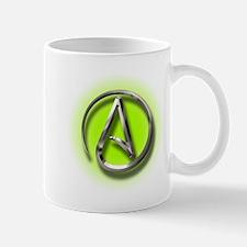 Atheist Logo (green) Mug