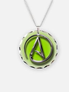 Atheist Logo (green) Necklace