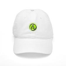 Atheist Logo (green) Baseball Cap