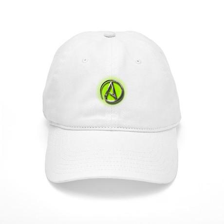 Atheist Logo (green) Cap