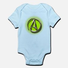 Atheist Logo (green) Infant Bodysuit