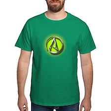 Atheist Logo (green) T-Shirt