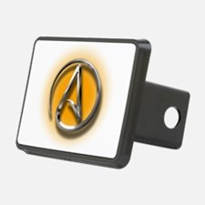 Atheist Logo (orange) Hitch Cover