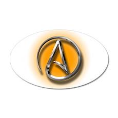 Atheist Logo (orange) Wall Decal