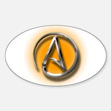 Atheist Logo (orange) Decal