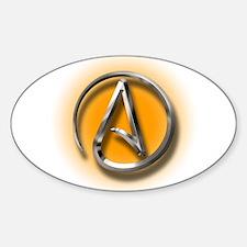 Atheist Logo (orange) Sticker (Oval)