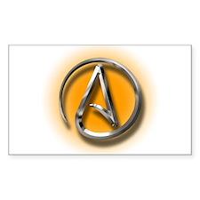 Atheist Logo (orange) Decal